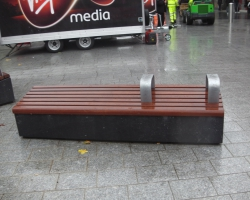Dark grey polished benches.2