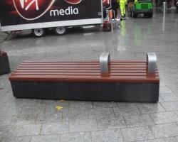 Dark grey polished benches.2
