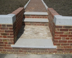 coping and steps grey granite