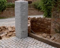 Natural grey  gatepost placed.