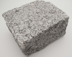 Small speckled grey granite cobble