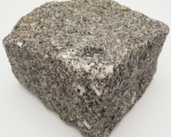 Wet brown granite block