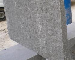 Fire hearth in natural grey granite