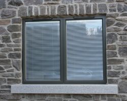 Granite window cills throughout house with wall coping to match