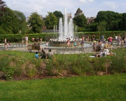 A commemorative water feature in Windsor