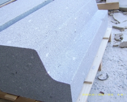 Granite kerbing for a public highway